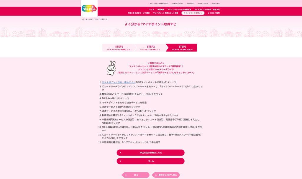 申込 サイト マイナ ポイント 予約